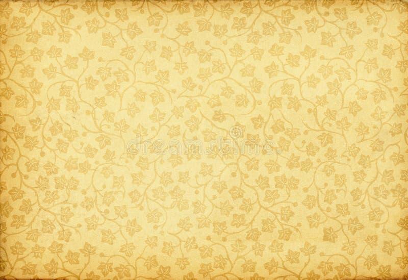 Ornamento floral de la vendimia en fondo retro del grunge ilustración del vector