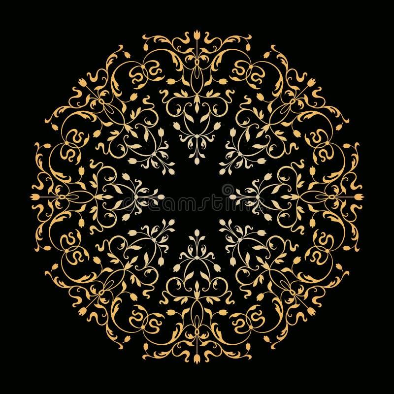 Ornamento floral decorativo do vetor Estilo do vintage ilustração royalty free