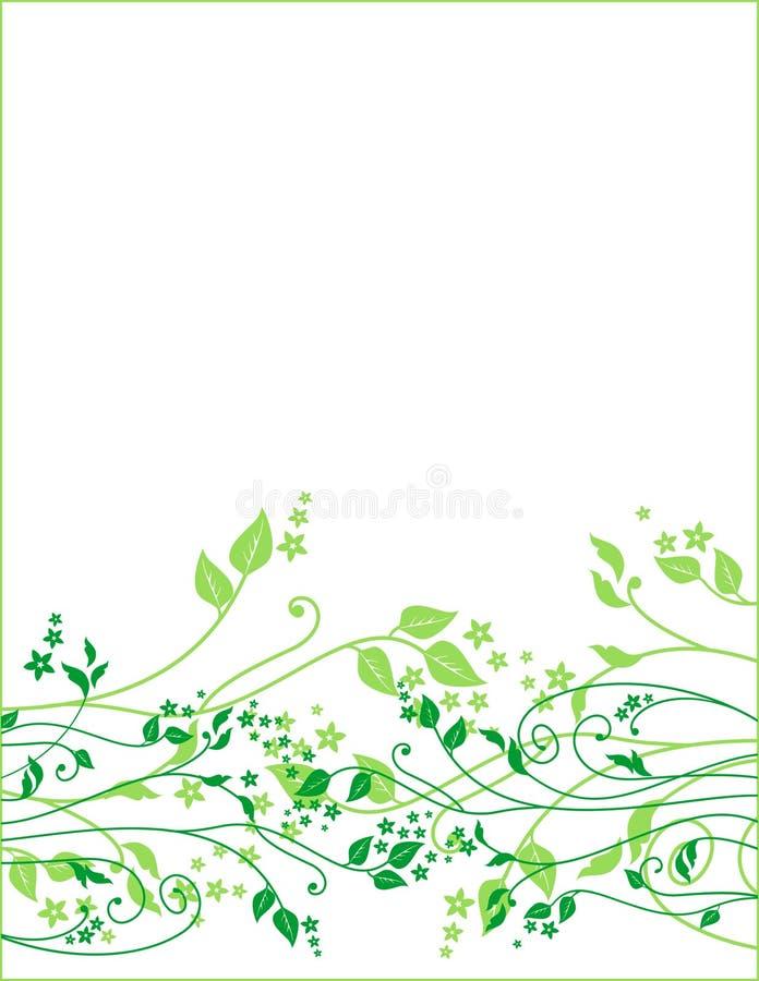 Ornamento floral del resorte stock de ilustración