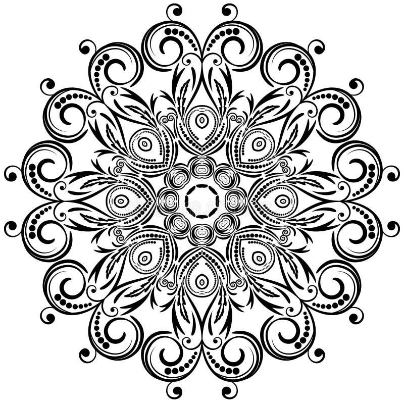 Ornamento floral do círculo. ilustração royalty free