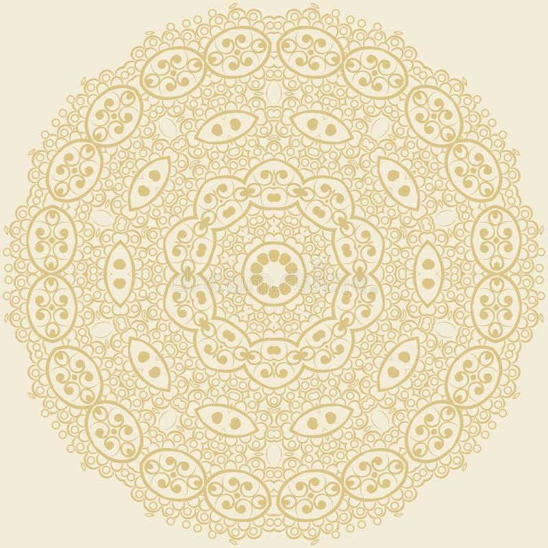 Ornamento floral do círculo. ilustração do vetor