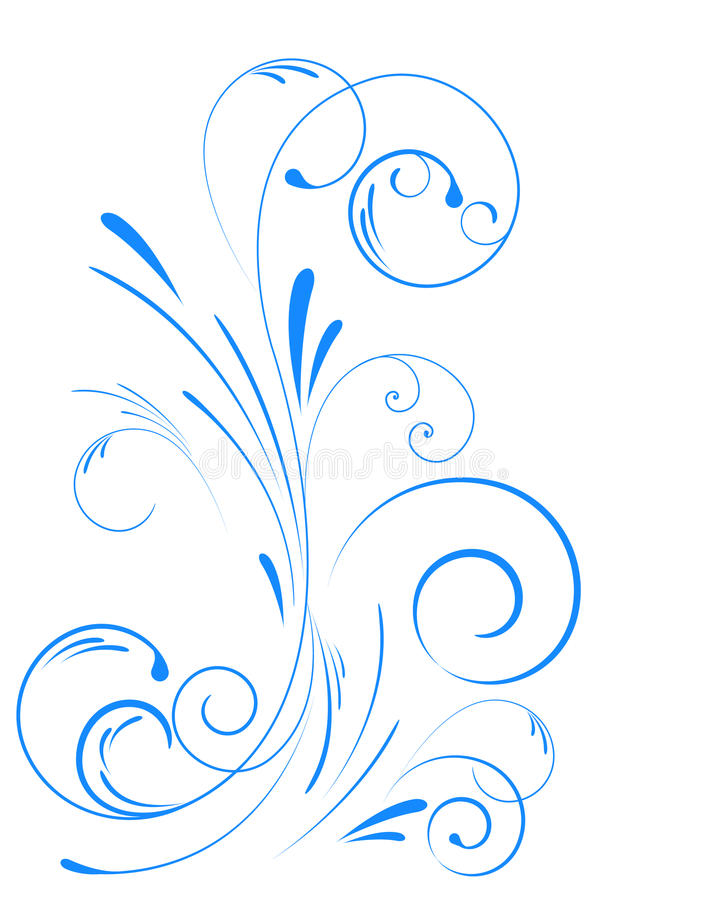 Ornamento floral do redemoinho imagens de stock royalty free