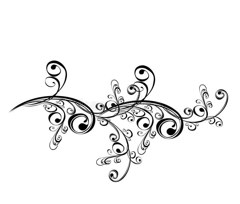 Ornamento floral, elemento para o projeto. Vetor ilustração do vetor