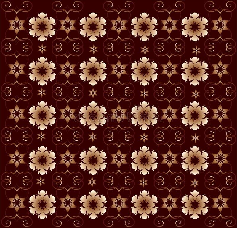 Ornamento floral, fundo do vetor ilustração stock