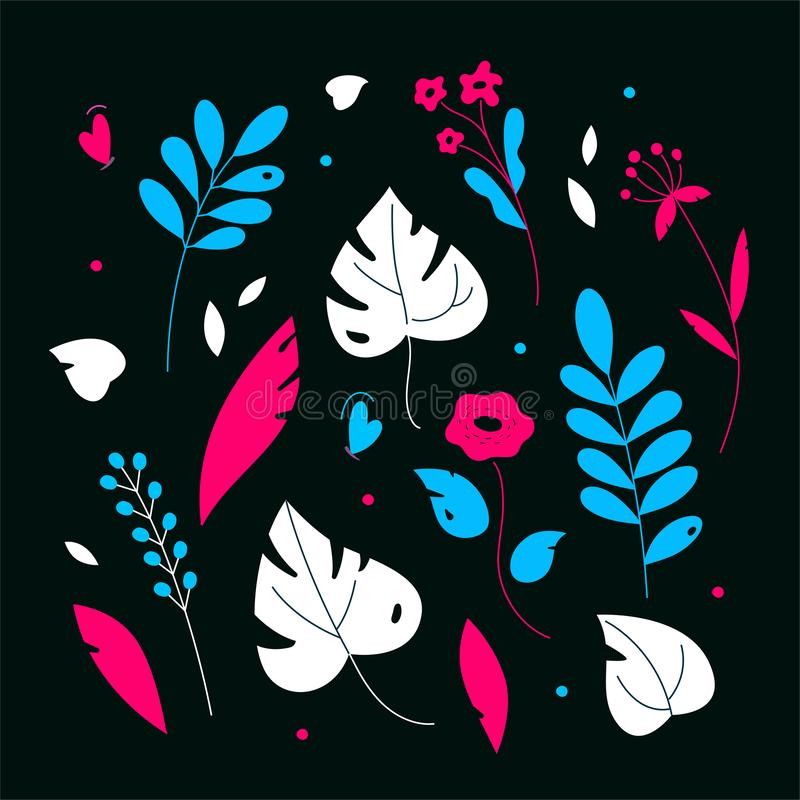 Ornamento floral - ilustração lisa moderna do estilo do projeto ilustração royalty free