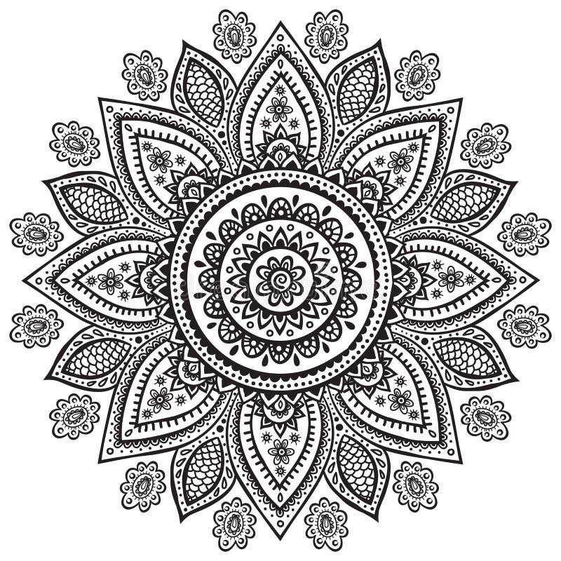 Ornamento floral indio hermoso ilustración del vector