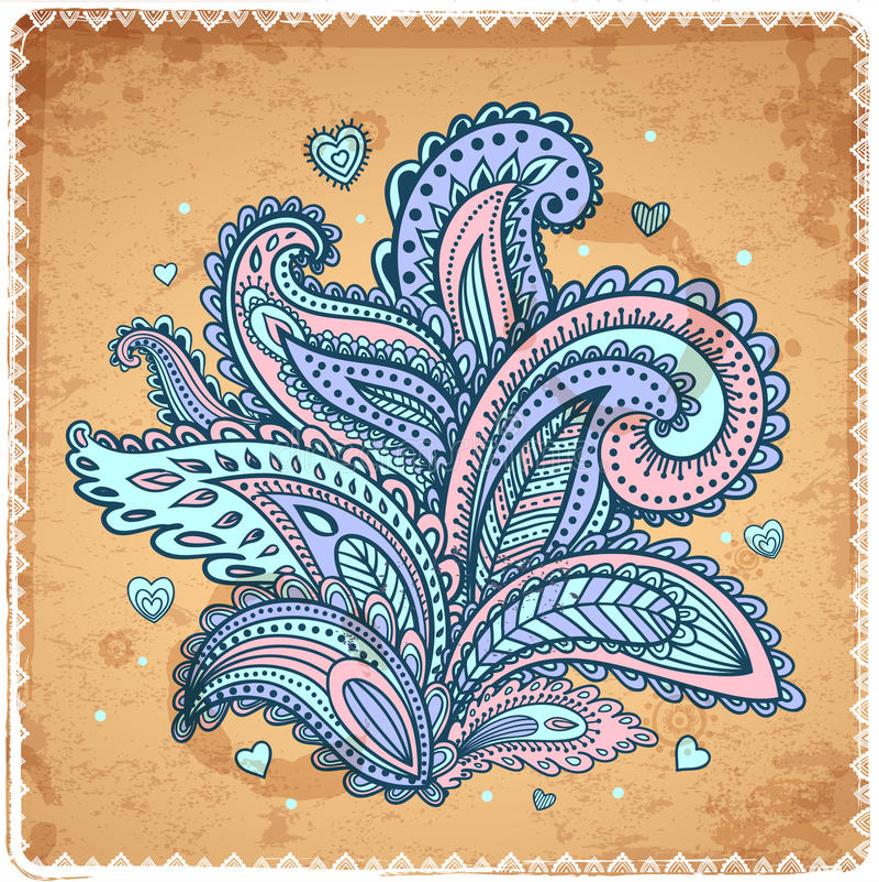Ornamento floral indio hermoso libre illustration