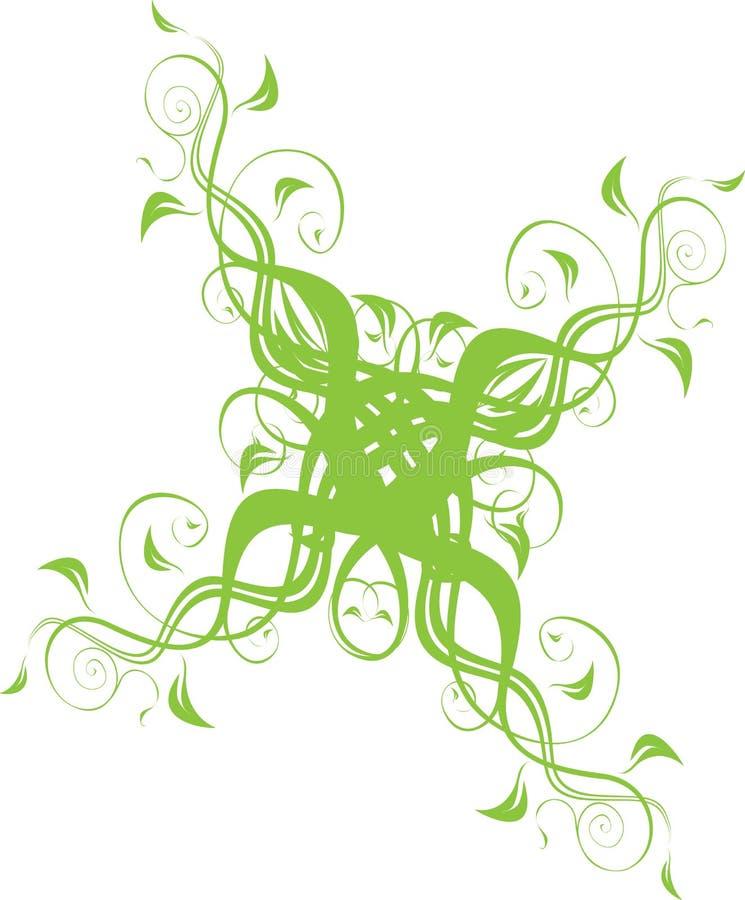 Ornamento floral no verde imagens de stock