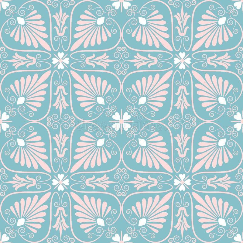 Ornamento floral sem emenda ajustado do vetor ilustração do vetor
