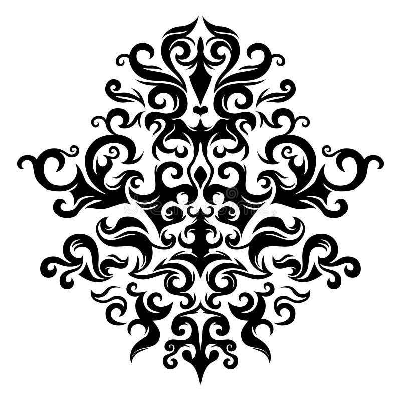 Ornamento floral simétrico ilustração royalty free