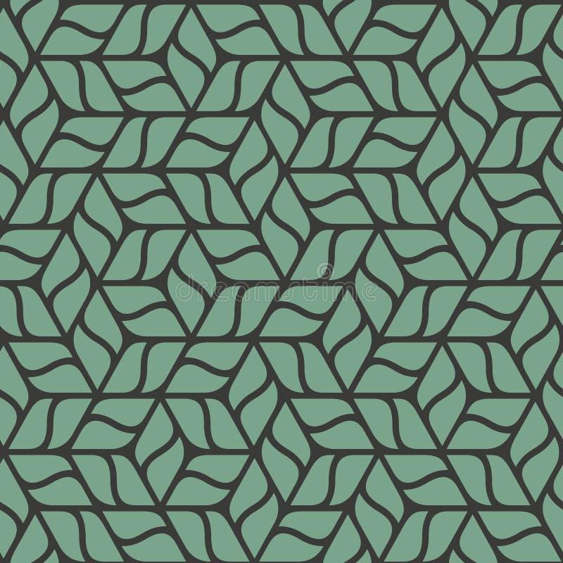 Ornamento floral - teste padrão estilizado do cubo das folhas ilustração do vetor