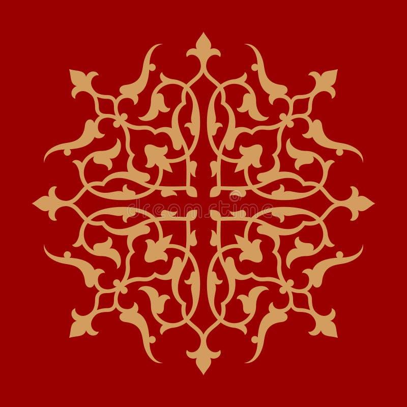 Download Ornamento Floral Uno De Abyek Ilustración del Vector - Ilustración de geométrico, diseño: 64207439