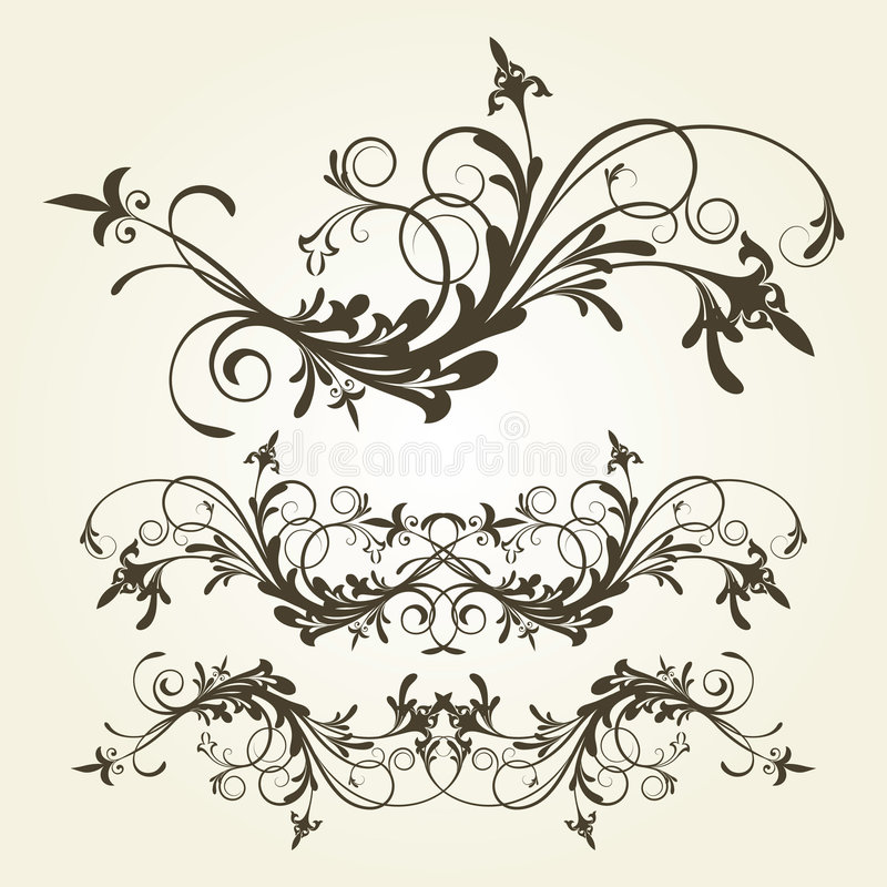 Ornamento floreale illustrazione di stock