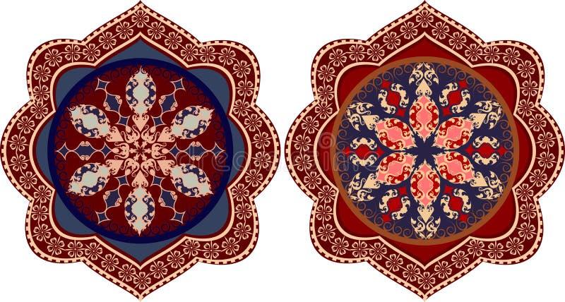 Ornamento floreale decorativo nello stile orientale illustrazione di stock