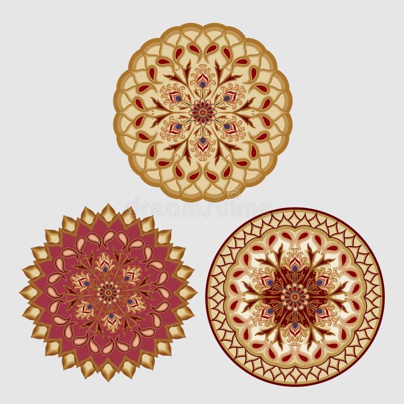 Ornamento floreale decorativo nello stile orientale mandala royalty illustrazione gratis