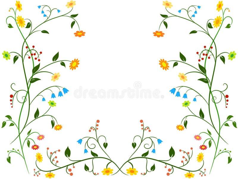 Ornamento floreale del fiore royalty illustrazione gratis