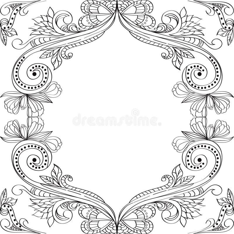 Ornamento floreale dell'annata royalty illustrazione gratis