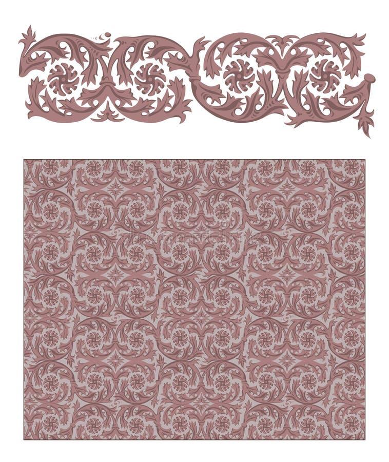 Ornamento floreale di Venezia illustrazione di stock