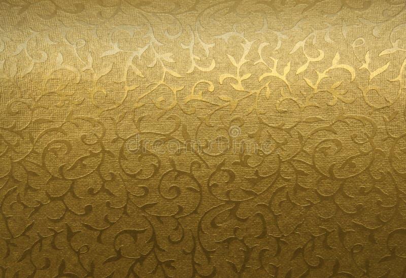 Ornamento floreale dorato fotografia stock libera da diritti