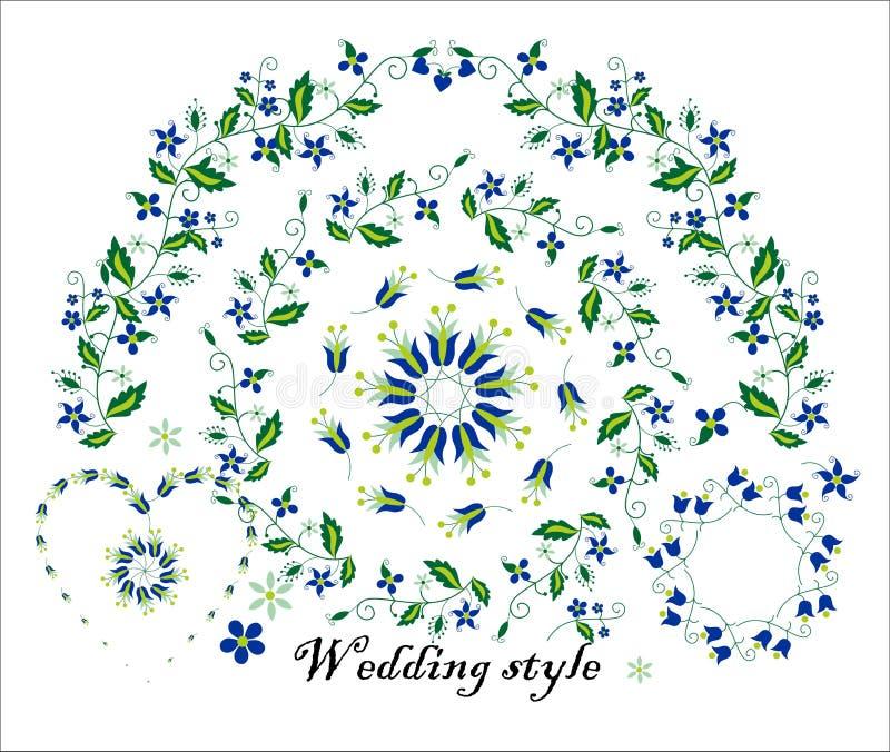 Ornamento floreale per la decorazione di nozze immagini stock