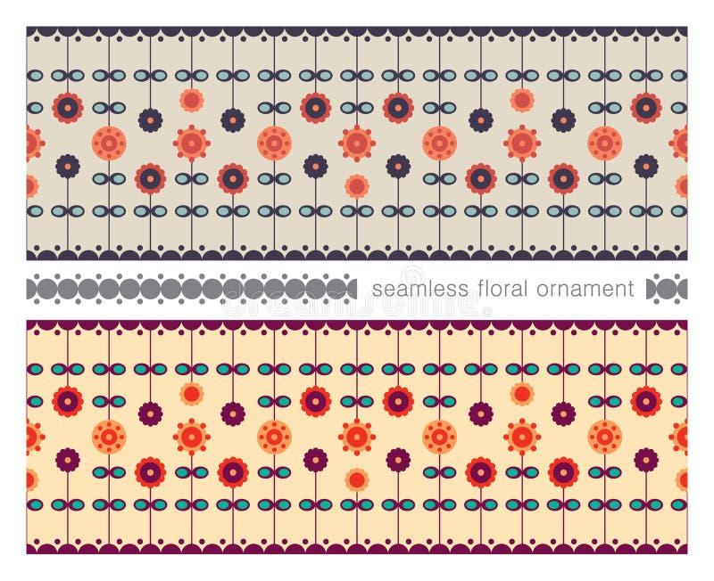 Ornamento floreale senza cuciture illustrazione vettoriale