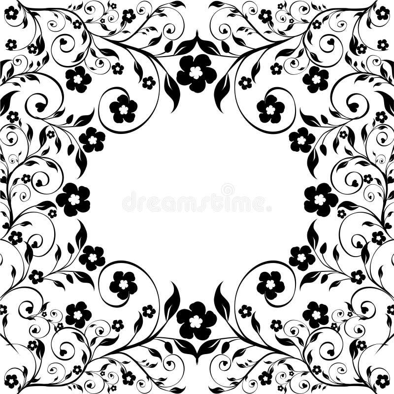 Download Ornamento Floreale Su Fondo Bianco Illustrazione Vettoriale - Illustrazione di modello, filiale: 30825404