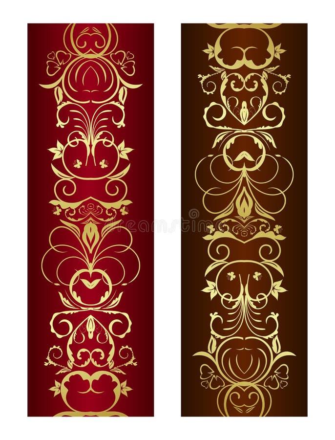 Ornamento floreale verticale illustrazione di stock