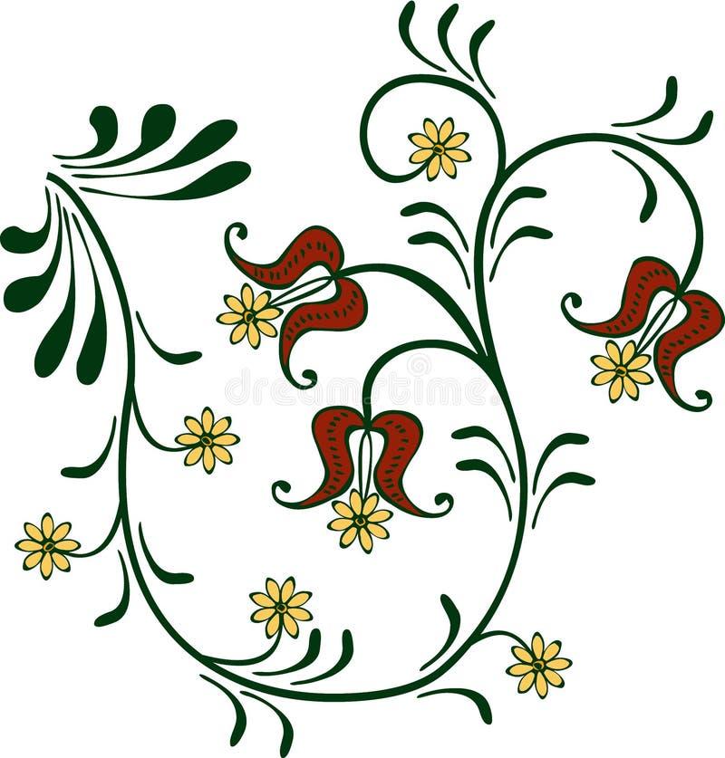 Ornamento Flowery ilustração do vetor