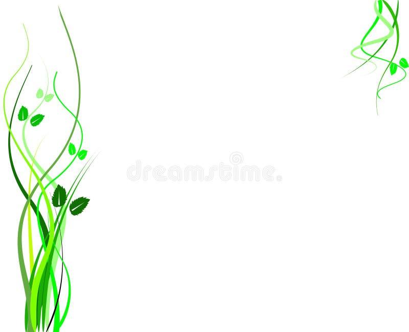 Ornamento fresco da grama ilustração do vetor