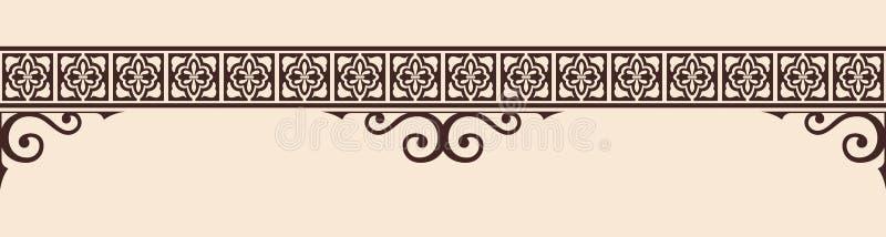 Ornamento gótico del estilo ilustración del vector