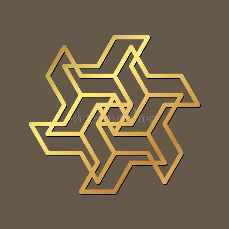 Ornamento geométrico abstracto Plantilla para el corte del laser Vector libre illustration