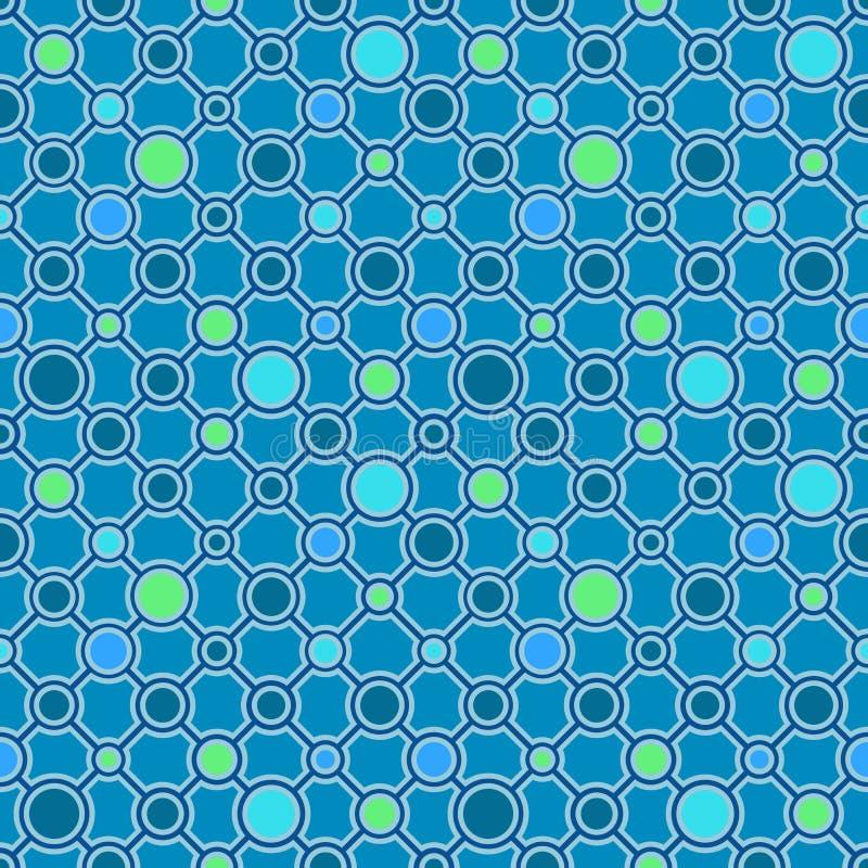 Ornamento geométrico clásico simple con las líneas oscuras y los círculos Modelo inconsútil del vector para la materia textil, im stock de ilustración