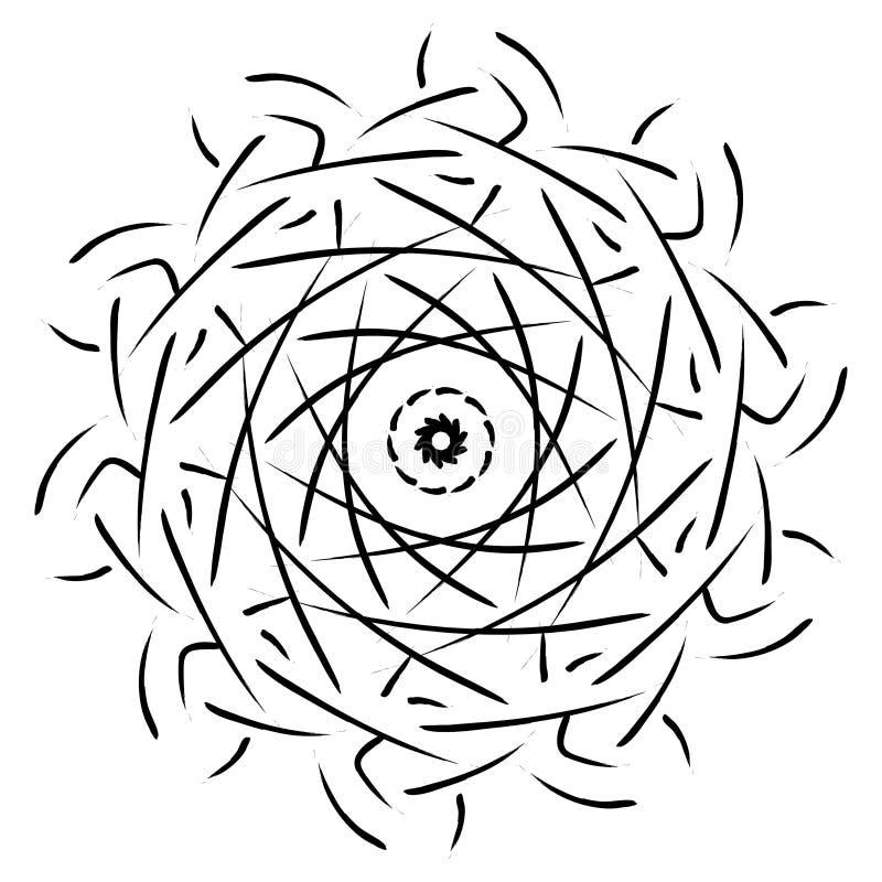 Ornamento geométrico de la mandala stock de ilustración