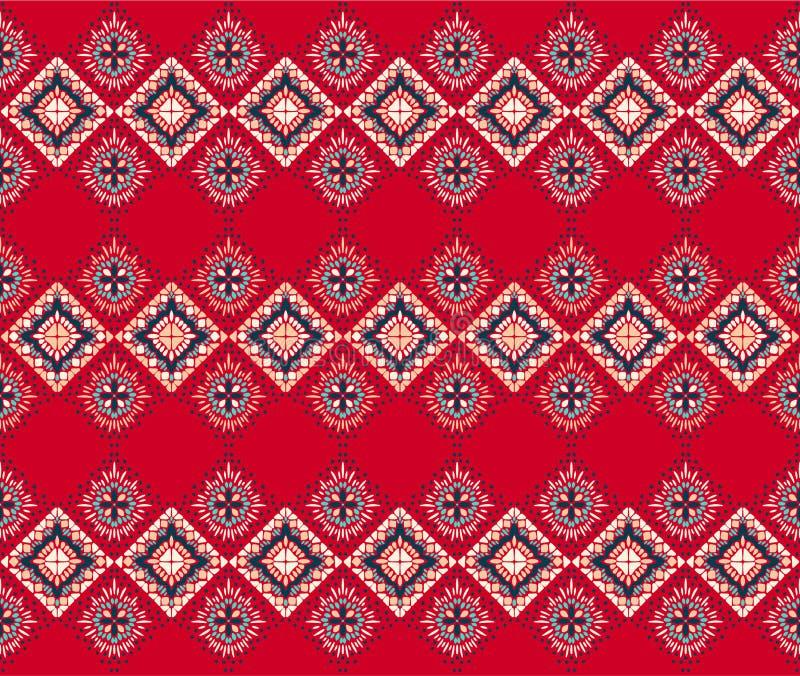 Ornamento geométrico do folclore de Ikat Textura étnica tribal do vetor Teste padrão listrado sem emenda no estilo asteca ilustração do vetor