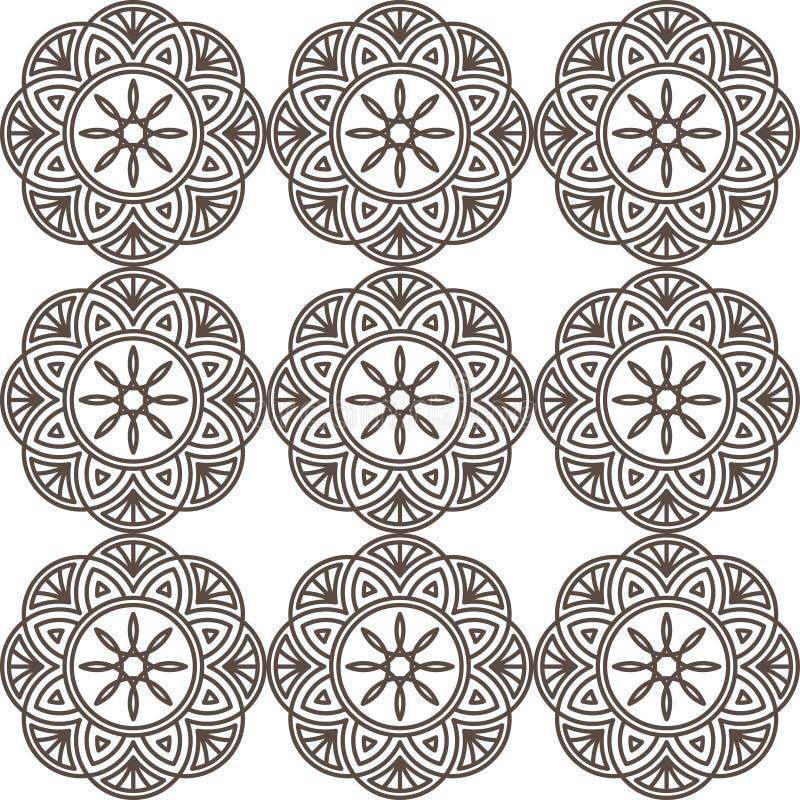 Ornamento geométrico inconsútil imágenes de archivo libres de regalías