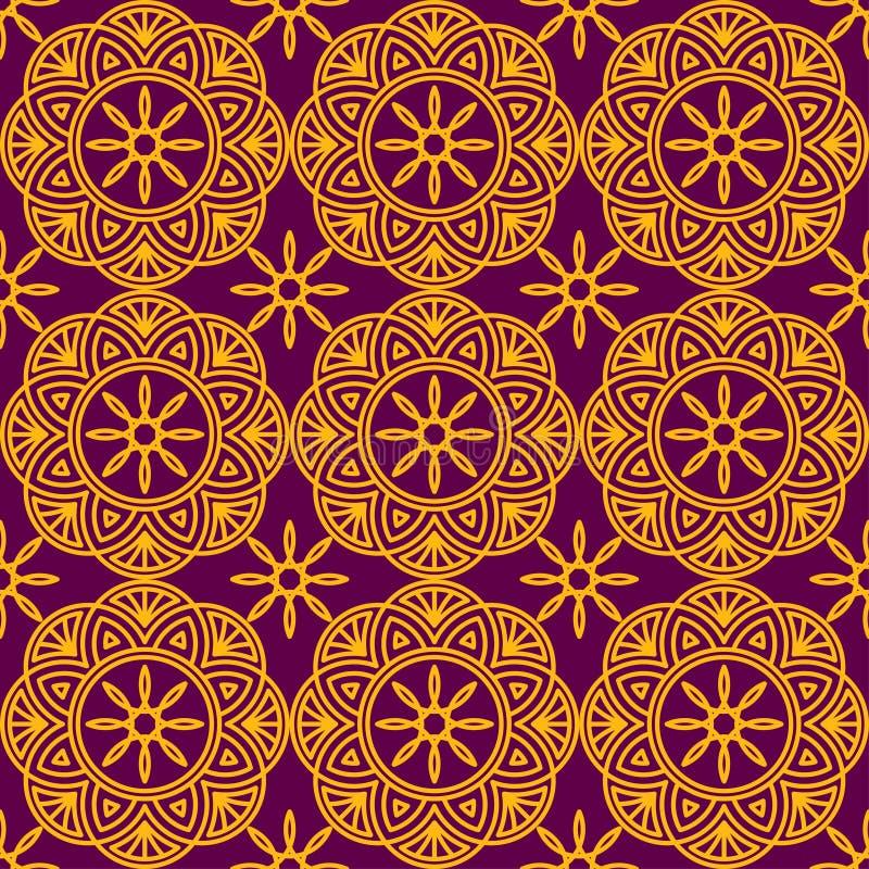 Ornamento geométrico inconsútil imagen de archivo