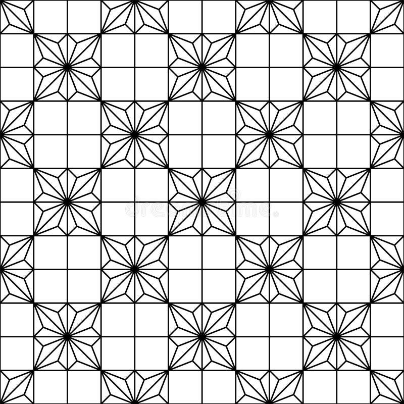 Ornamento geométrico japonês tradicional sem emenda Rebecca 36 ilustração royalty free