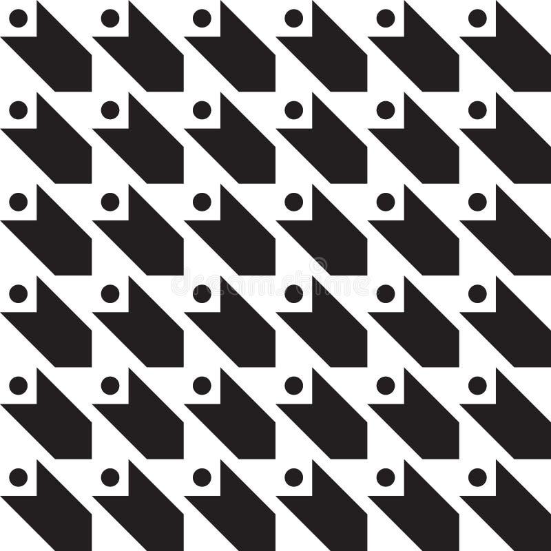 Ornamento geométrico sem emenda do clássico do teste padrão do vetor ilustração royalty free