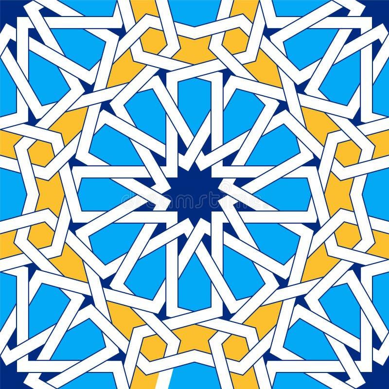 Ornamento geométricos islâmicos baseados na arte árabe tradicional Teste padrão sem emenda oriental ilustração royalty free