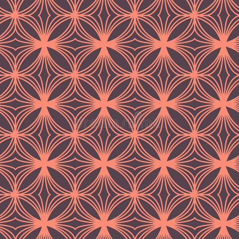 Ornamento geometrico dell'estratto senza cuciture del modello nello stile orientale d'annata illustrazione di stock