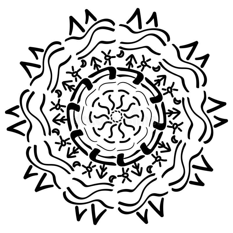 Ornamento geometrico della mandala royalty illustrazione gratis