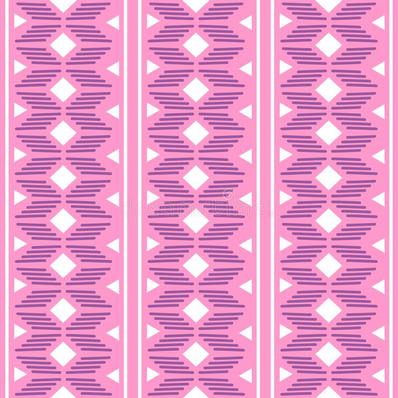 ornamento geometrico di folclore di kat Struttura etnica tribale di vettore Modello a strisce senza cuciture nello stile azteco F illustrazione vettoriale