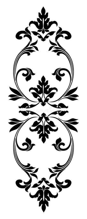 Ornamento gotico del confine Elementi d'annata decorativi per progettazione Immagine di vettore illustrazione vettoriale
