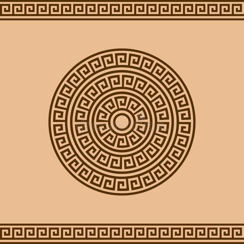 Ornamento greco del confine e della rosetta per progettazione fotografia stock