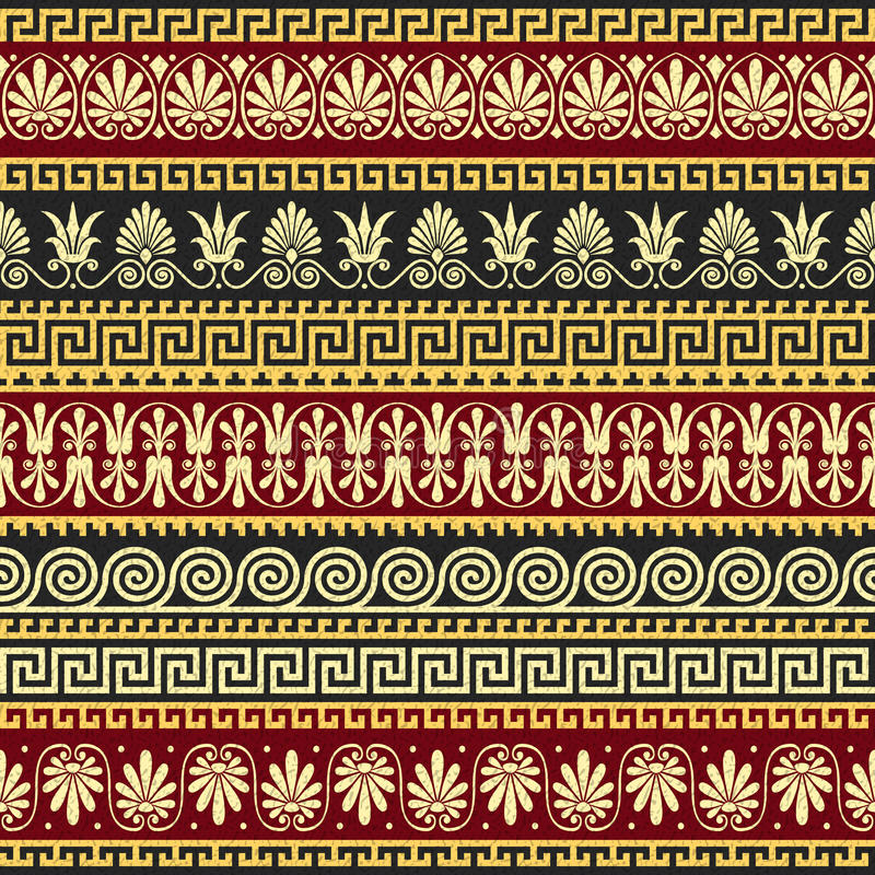 Ornamento greco dell'oro d'annata tradizionale di vettore (me royalty illustrazione gratis