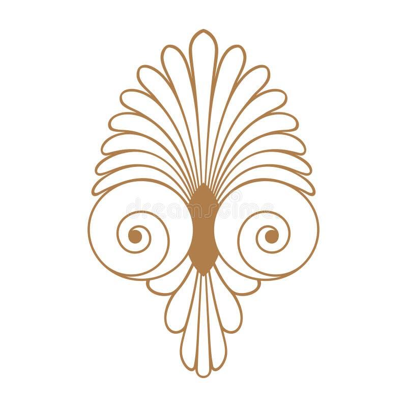 Ornamento grego do redemoinho antigo, vetor e s?mbolo da ilustra??o ilustração royalty free