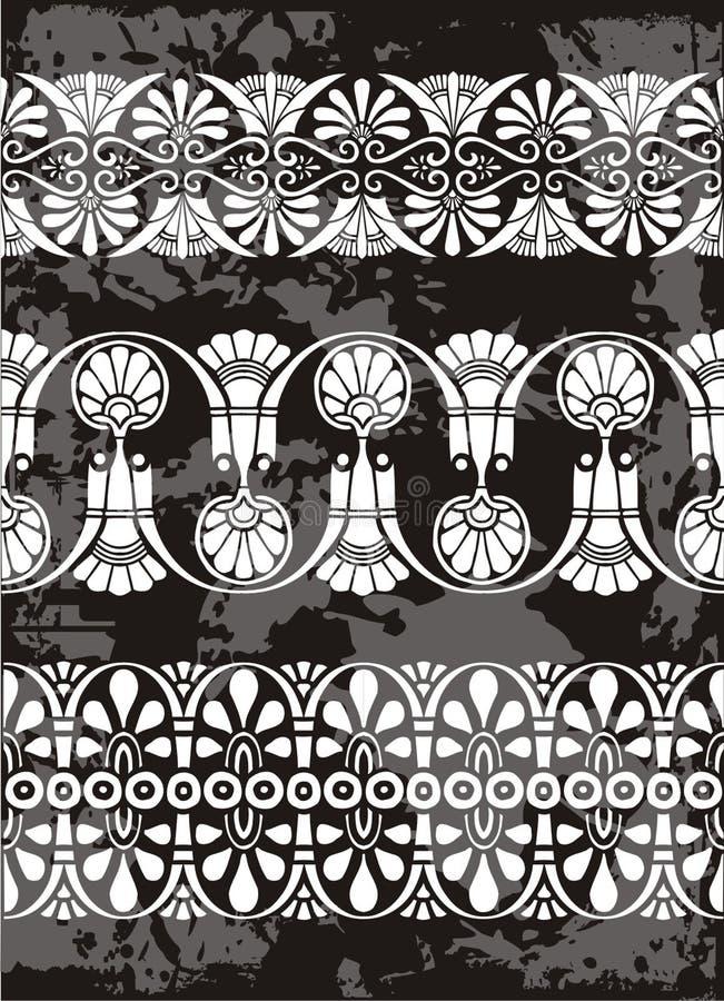 Ornamento gregos ilustração royalty free
