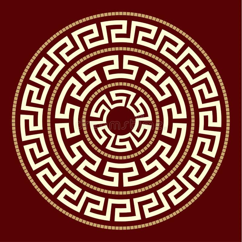Ornamento gregos REDONDOS ilustração royalty free