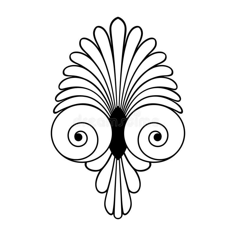 Ornamento griego del remolino antiguo, vector y símbolo del ejemplo ilustración del vector