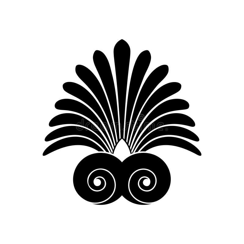 Ornamento griego del remolino antiguo, vector y s?mbolo del ejemplo libre illustration
